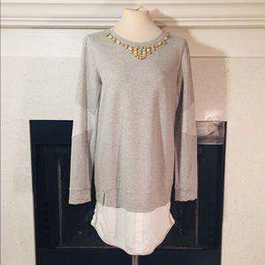 Boundary Rhinestone Collar shirt or dress